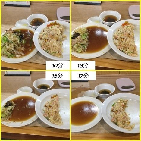 東松山西華野菜炒めとチャーハン大盛り経過