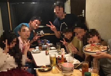 上板橋デカ盛り居酒屋花門オフ会記念撮影