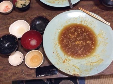 福岡春日食堂デカ盛り定食完食