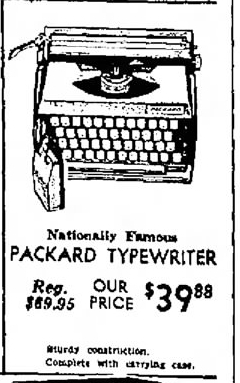 The Packard typewriter (revisited)