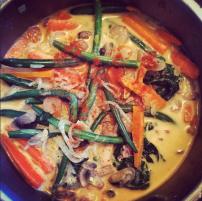 Thai curry with Shiritaki noodles