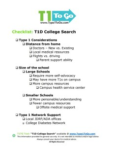 T1D College Search