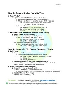 T1D Teens & Driving Page 2