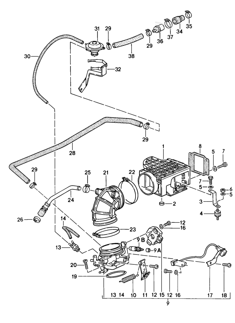 911 1984-89 Reducing Sleeve for Intake Vacuum Connection