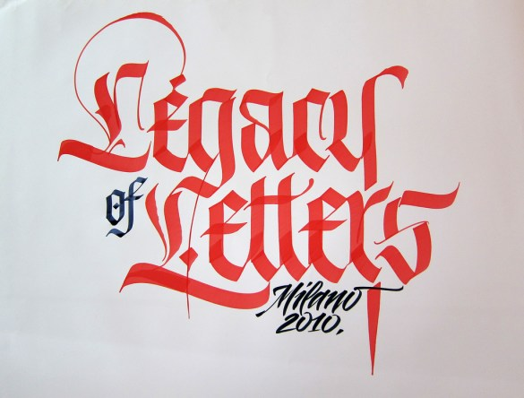 The calligraphy of Luca Barcellona