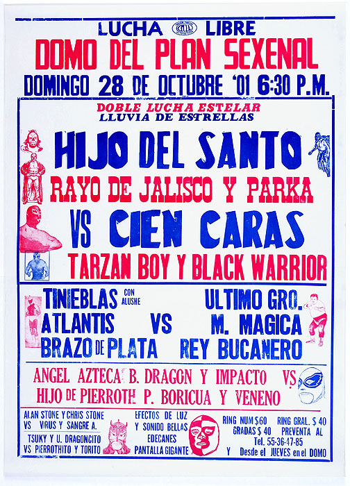 Lucha Libre letterpress posters from Mexico City