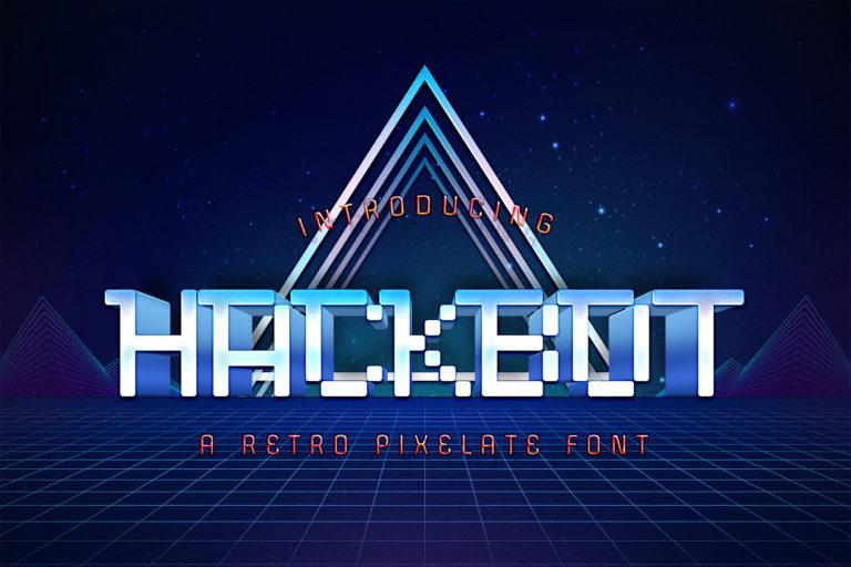 Hackbot - a Retro Pixelate Font