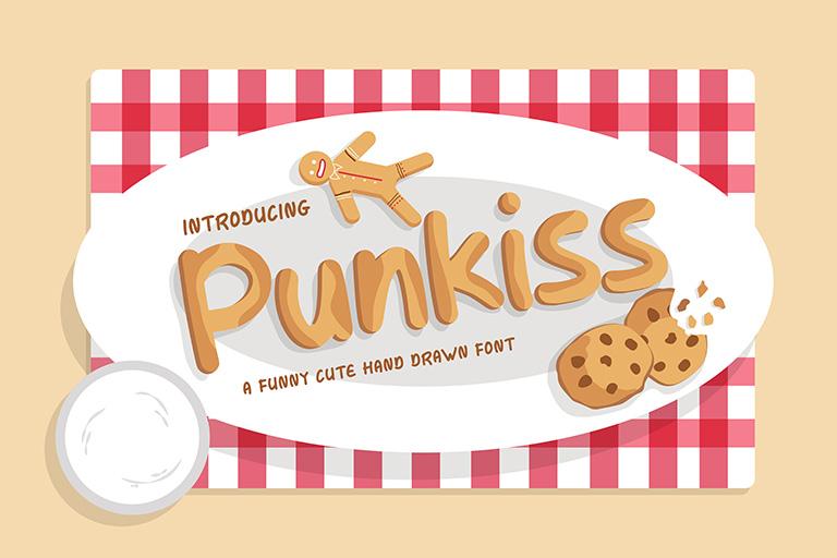 Punkiss - Cute Hand Drawn Font