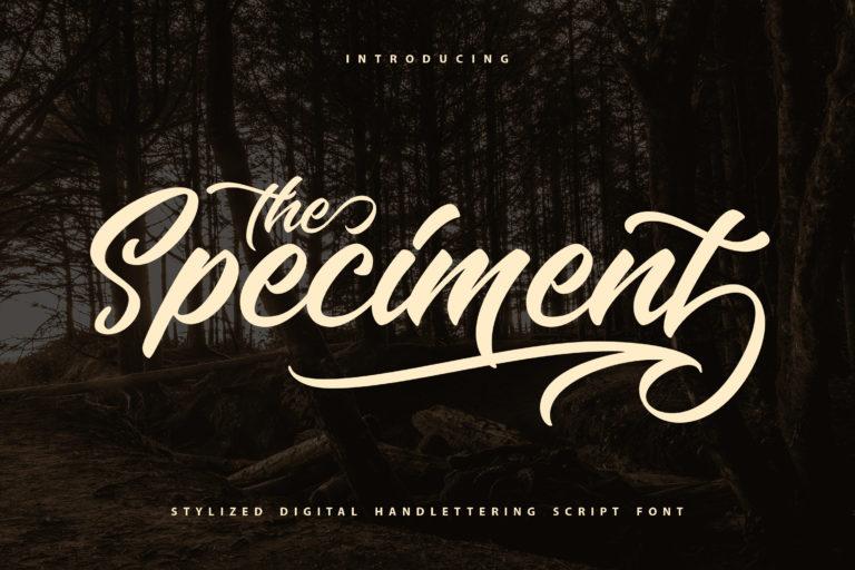 The Speciment - Handlettering Script Font