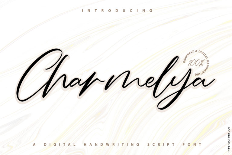 Charmelya - Handwriting script font