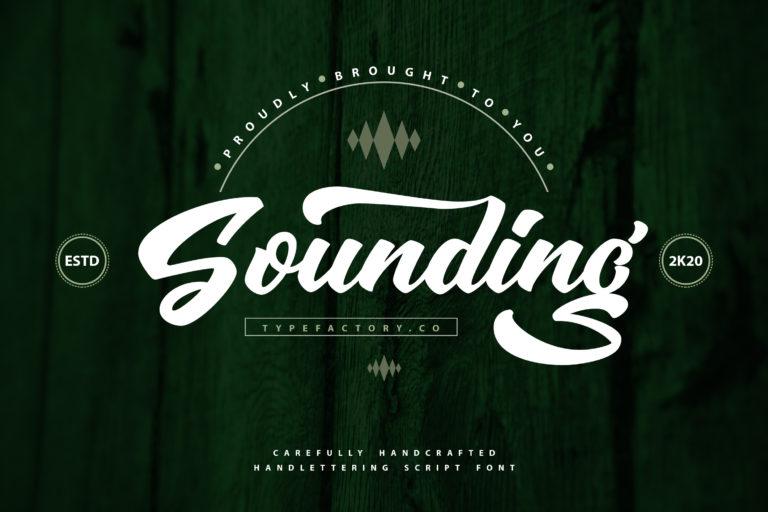 Sounding - Script Font