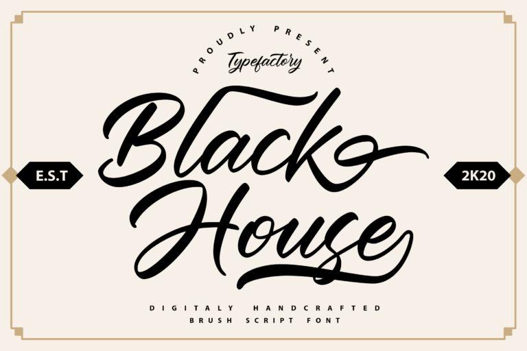 Black House - Script Font