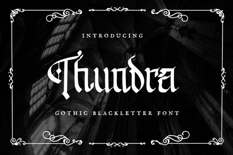 Thundra - Blackletter Font