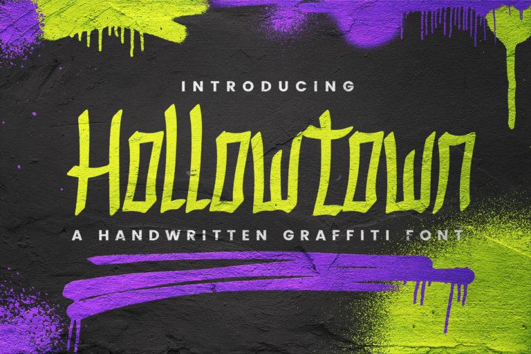 Hollow Town - Handwritten Graffiti
