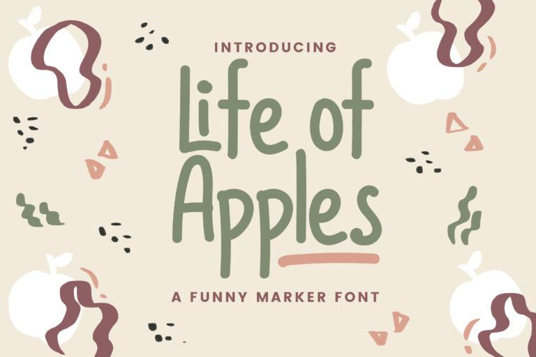 Life of Apples - Comic Handwritting Font