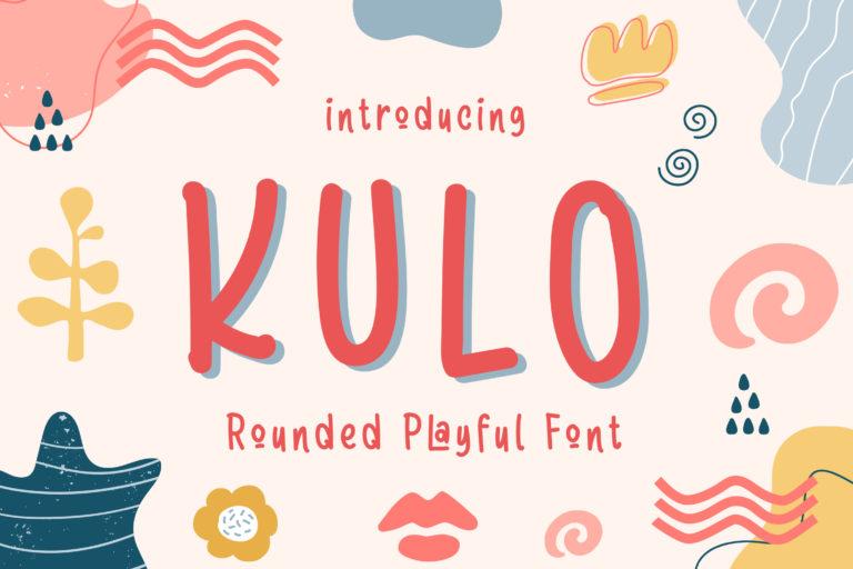 Kulo - Rounded Playful Font