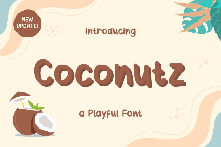 Coconutz - Playful Font
