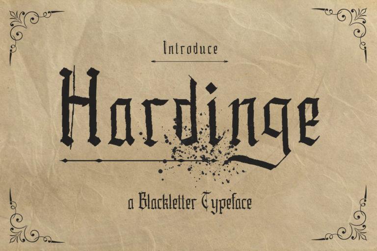 Hardinge - Blackletter Typeface
