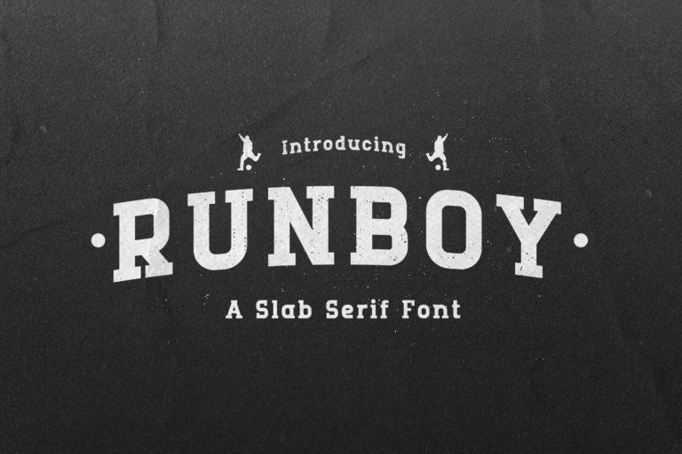 Runboy - Sport Slab Serif Font
