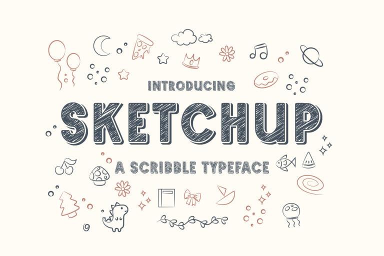 Sketchup - Adorable Scribble Typeface