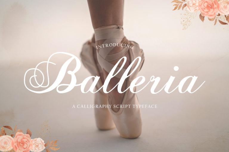 Balleria - Lovely Modern Script