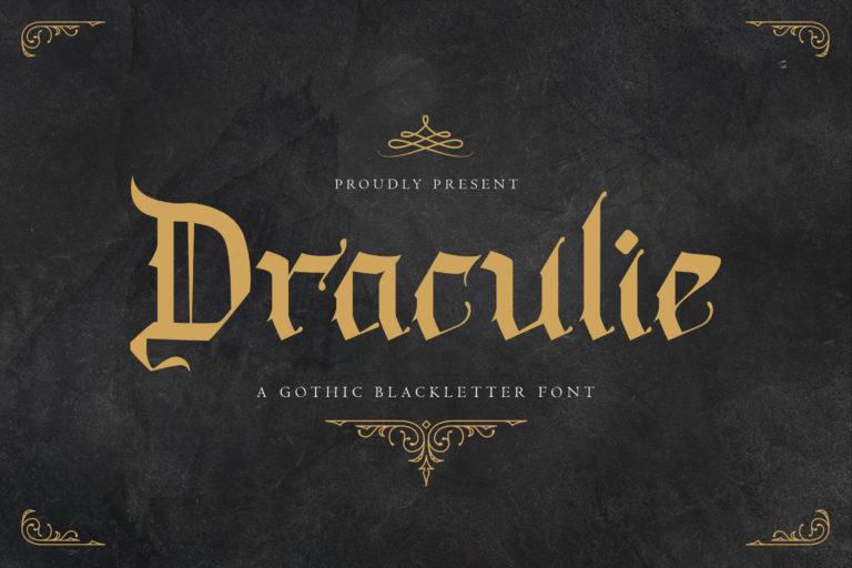 Draculie - Ghothic Blackletter Font