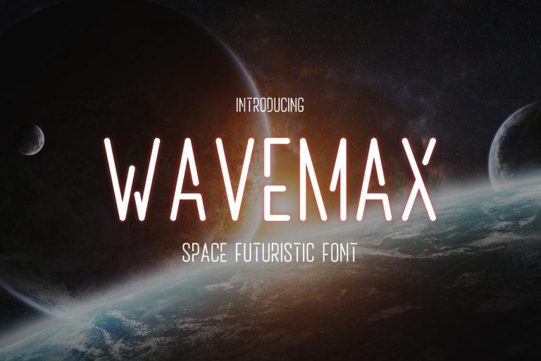 Wavemax - Space Futuristic Font