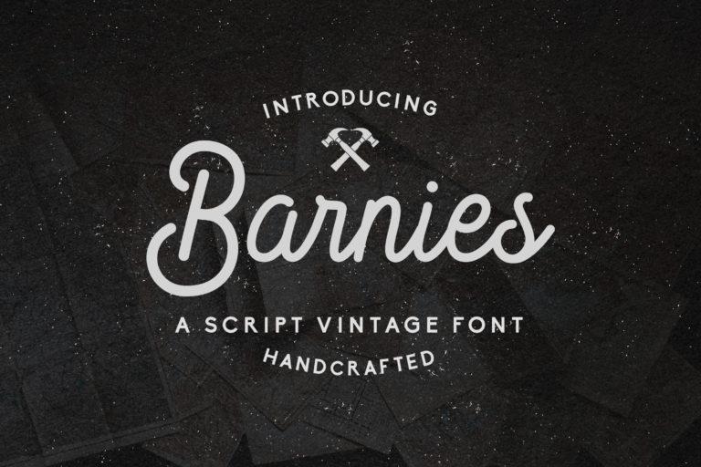 Barnie's - Handcrafted Vintage Script Font
