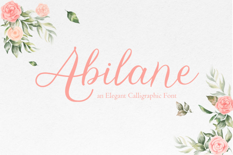 Abilane - Elegant Caligraphic Font