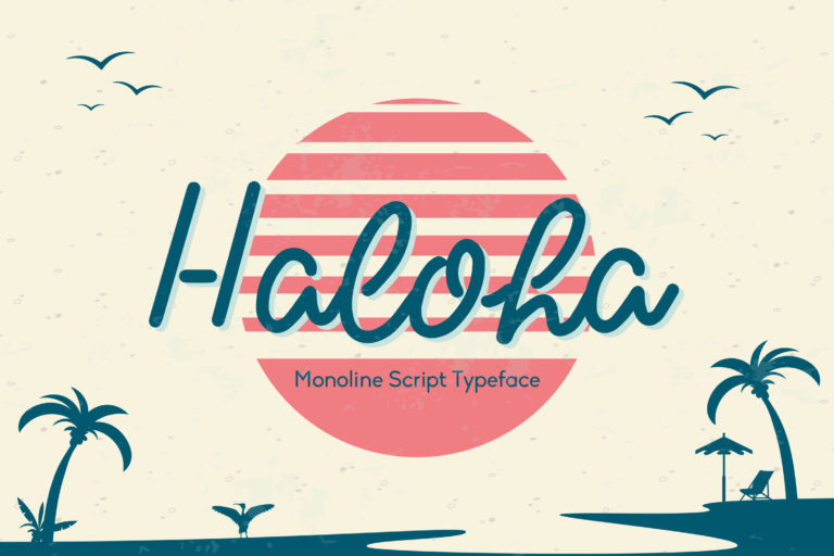 Haloha - Monoline Script Typeface