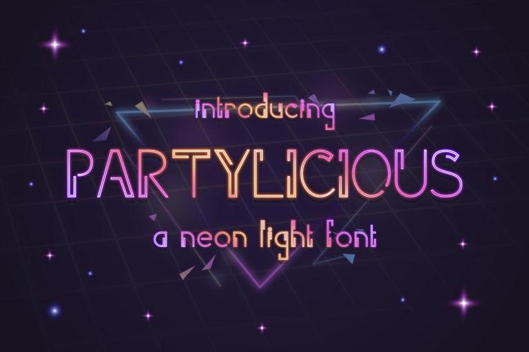 Parylicious - Modern Neon Light Font