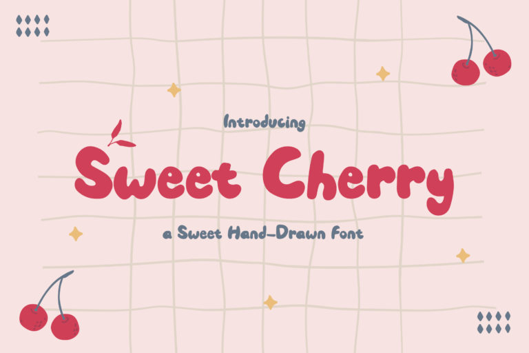 Sweet Cherry - a Sweet Hand-Drawn Font