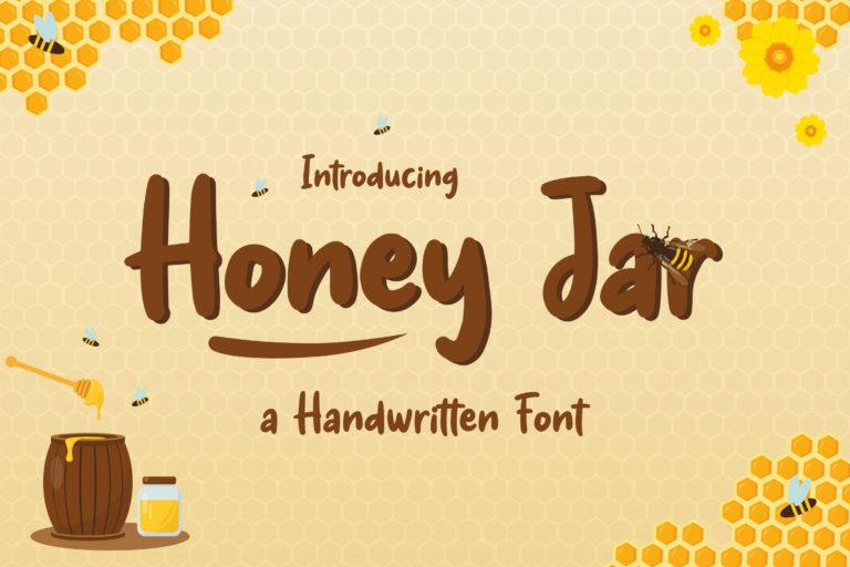 Honey Jar - Fancy Honey Farm Font