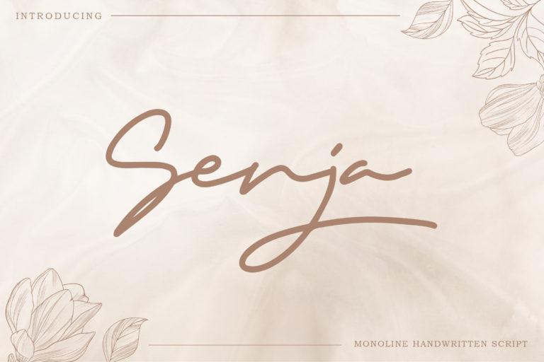 Senja - Monoline Handwritten Script