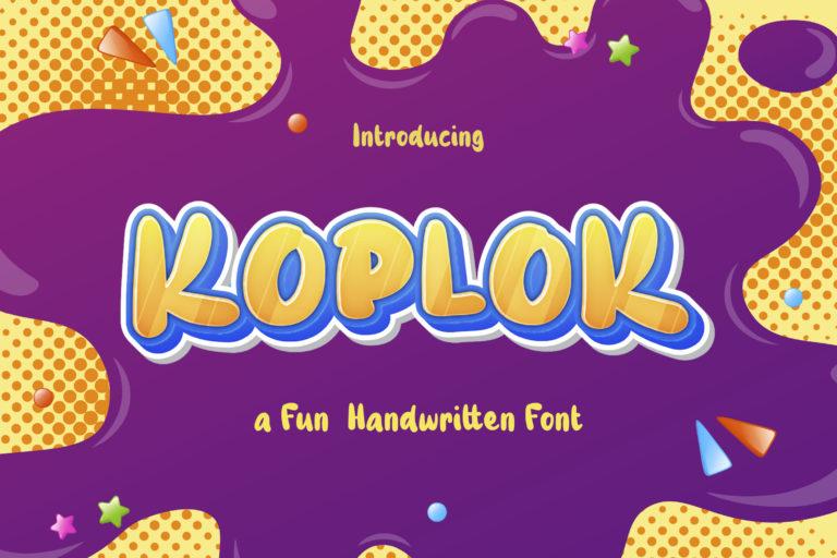 Koplok - a Fun Handwritten Font