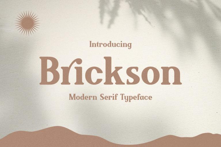 Brickson - Elegant Modern Serif