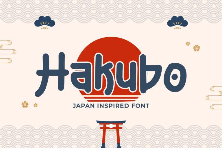 Hakubo - Japan Inspired Font