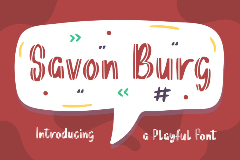 Savon Burg - Playful Display Font