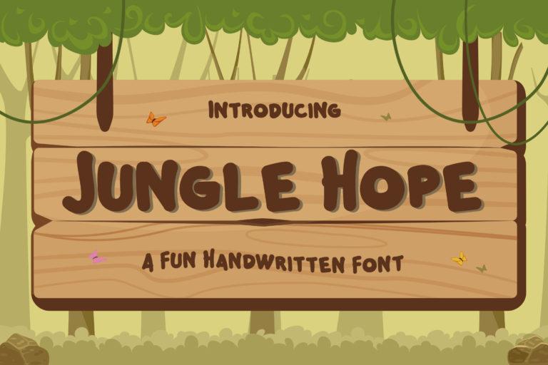 Jungle Hope - Fun Handwritten Font