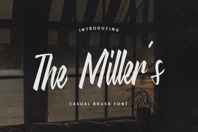 The Miller's - Casual Brush Font