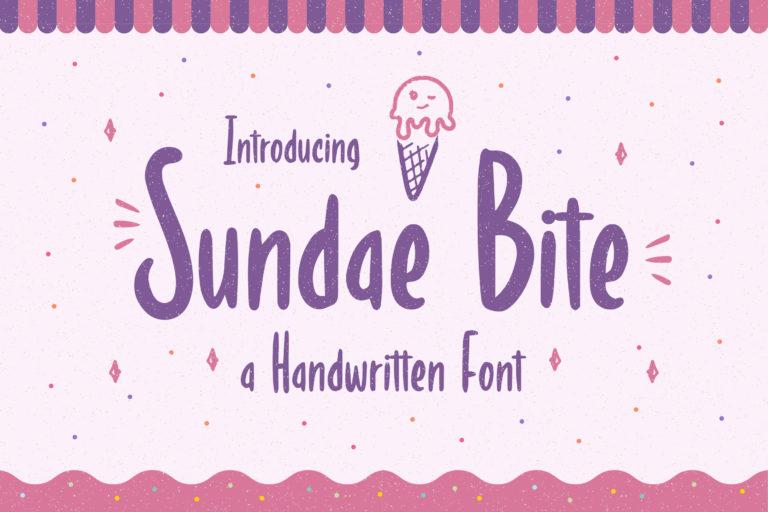 Sundae Bite - Fun Handwritten Font