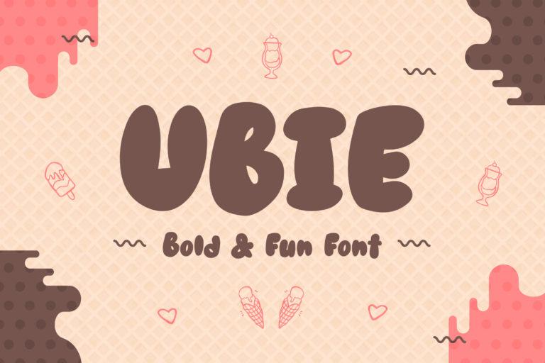 Ubie - Bold and Fun Display