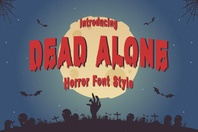 Dead Alone - Horror Style Font