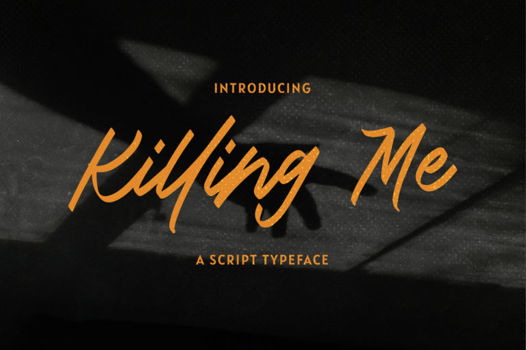 Preview image of Killing Me – Modern Script Typeface