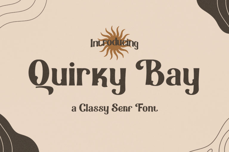 Preview image of Quirky Bay – Classy Serif Font