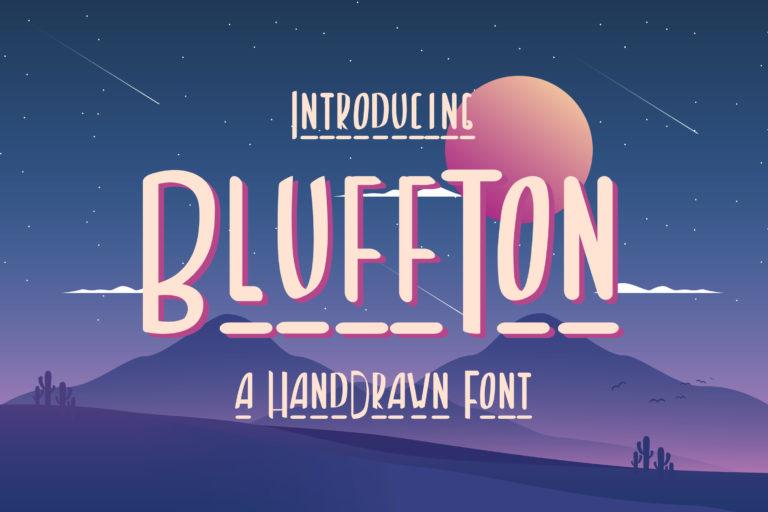 Bluffton - Decorative Hand Drawn Font