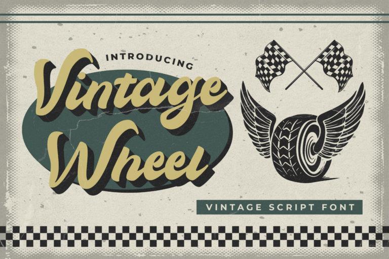 Vintage Wheel - Vintage Script Font