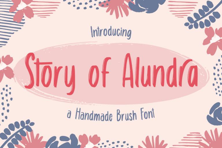 Story of Alundra - Cute Brush Font