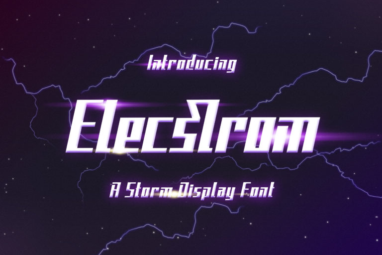Preview image of Elecstrom – Storm Display Font