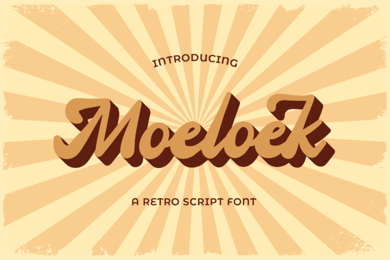 Moeloek - Retro Bold Display Script